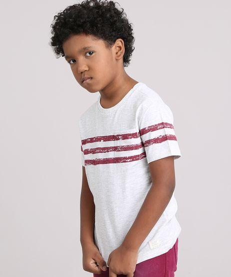 Camiseta-Infantil-com-Listras-e-Bolso-Manga-Curta-Decote-Careca-Cinza-Mescla-Claro-9139815-Cinza_Mescla_Claro_1