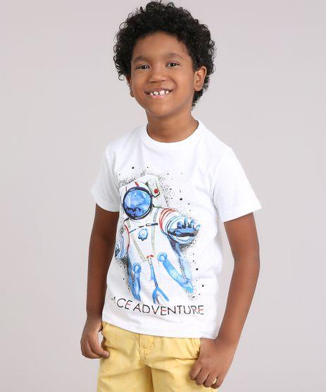 Camiseta-Infantil-Astronauta-Manga-Curta-Gola-Redonda-em-Algodao---Sustentavel-Off-White-9183189-Off_White_1