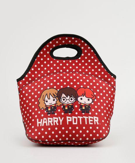 Lancheira-Feminina-Harry-Potter-Estampada-de-Poa-Vermelha-9131728-Vermelho_1