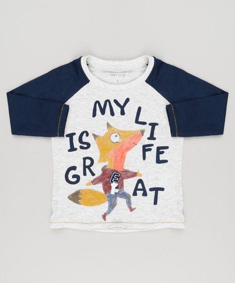 Camiseta-Infantil-com-Estampa-Interativa-Raposa-Raglan-Manga-Longa-Gola-Careca-Cinza-Mescla-Claro-9140704-Cinza_Mescla_Claro_1
