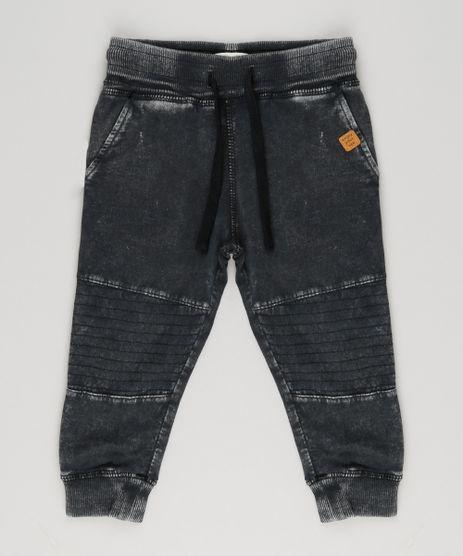 508ffc7b7 Calca-Jeans-Infantil-em-Moletom-Preta-8856360-Preto 1