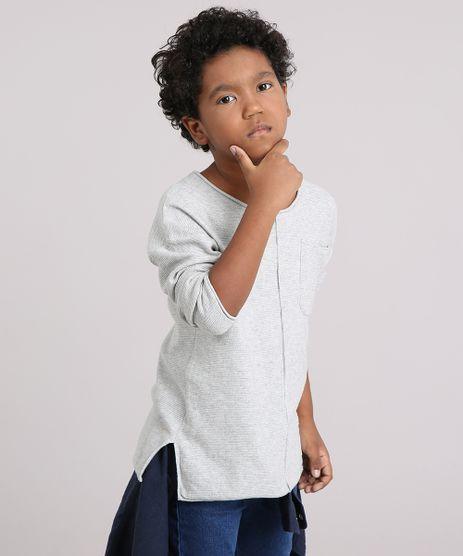 Camiseta-Infantil-com-Bolso-Manga-Longa-Gola-Careca-Cinza-Mescla-Claro-8868495-Cinza_Mescla_Claro_1