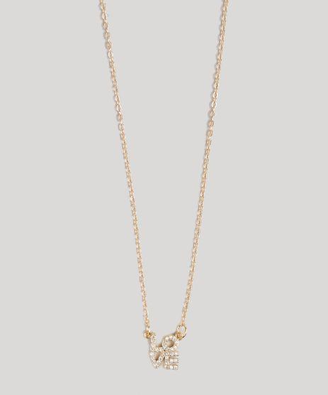 Colar-Feminino--Love--com-Strass-Dourado-9120323-Dourado_1