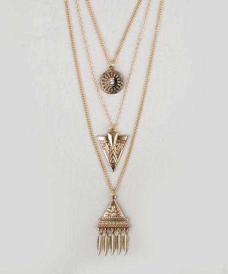 Colar-Triplo-com-Pingentes-Dourado-9029882-Dourado_1