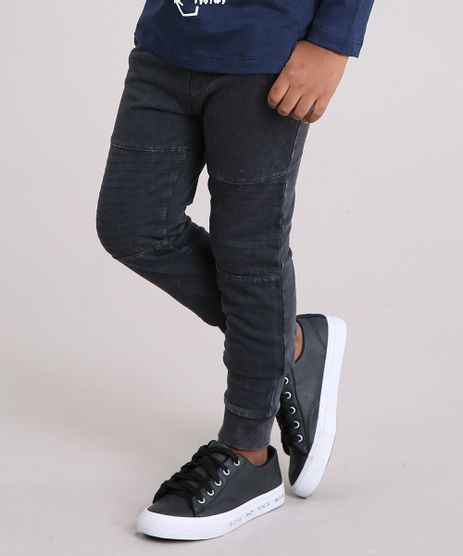 1f5336ad2 Calca-Jeans-Infantil-em-Moletom-Preta-8861871-Preto 1