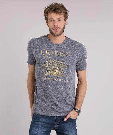Camiseta-Masculina-Queen---We-Will-Rock-You--Manga-Curta-Gola-Careca-Cinza-Mescla-Escuro-9115036-Cinza_Mescla_Escuro_1