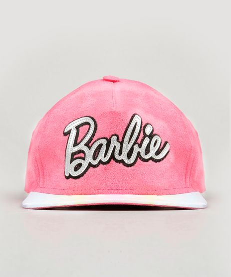 Bone-Infantil-Barbie-com-Suede-Rosa-9057684-Rosa_1