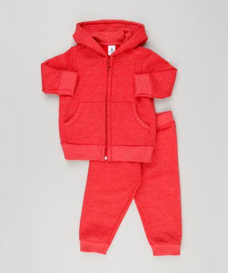 Conjunto-Infantil-de-Blusao-Basico-com-Capuz---Calca-em-Moletom-Vermelho-9161188-Vermelho_1