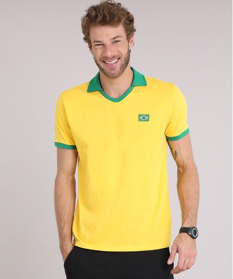 Camiseta-Masculina-Esportiva-Brasil-Ace-Manga-Curta-Amarela-9175338-Amarelo_1