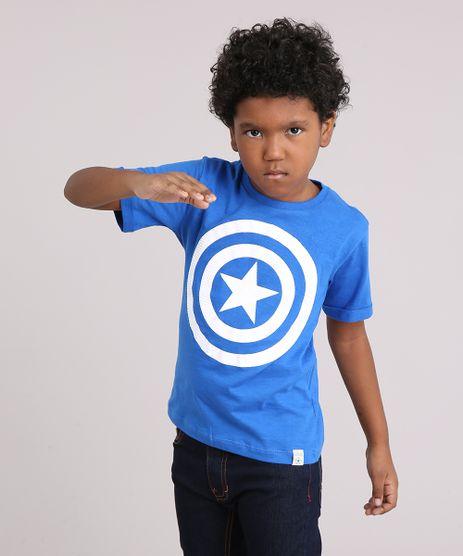 Camiseta-Infantil-Capitao-America-Manga-Curta-Gola-Careca-Azul-9158817-Azul_1