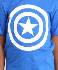 Camiseta Infantil Brasil Capitão América Manga Curta Gola Careca ... 992343fd67c33