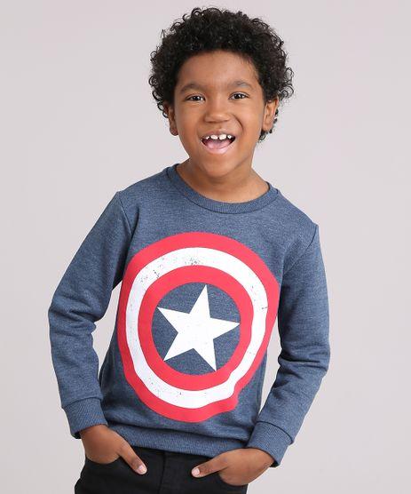 Blusao-Infantil-Capitao-America-em-Moletom-Gola-Careca-Manga-Longa-Azul-Marinho-9170880-Azul_Marinho_1