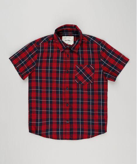 [Imagem: Camisa-Infantil-Xadrez-Manga-Curta-com-B...5409600000]