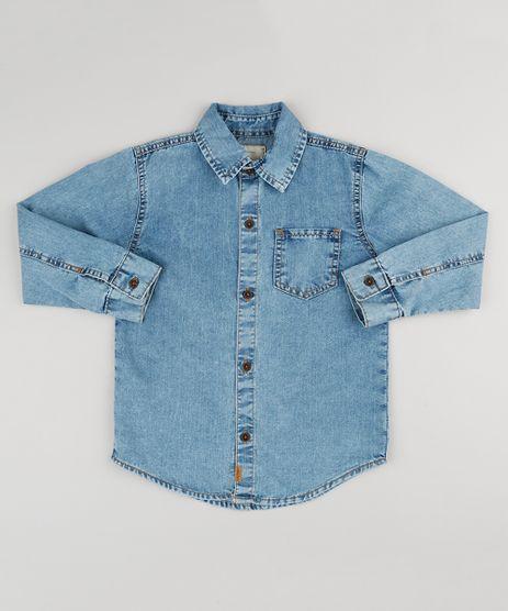 Camisa-Infantil-Jeans-Manga-Longa-com-Bolso-Azul-Claro-9180399-Azul_Claro_1