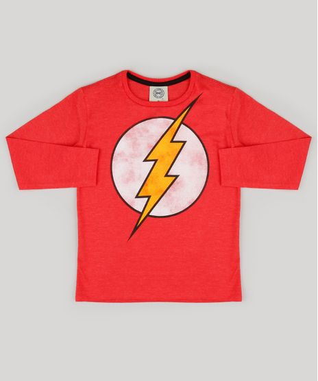 Camiseta-Infantil-The-Flash-Manga-Longa-Gola-Careca-Vermelha-9130333-Vermelho_1