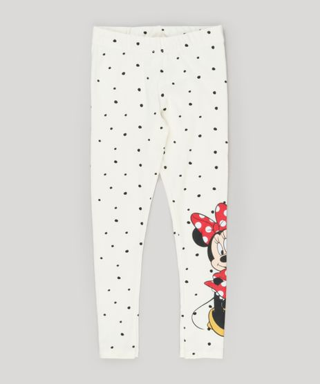Calca-Legging-Infantil-Minnie-Mouse-em-Algodao---Sustentavel-Off-White-9148207-Off_White_1