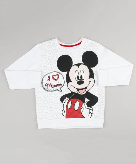 Blusao-Infantil-Mickey-Mouse-em-Moletom-com-Glitter-Decote-Redondo-Manga-Longa-Off-White-9156227-Off_White_1