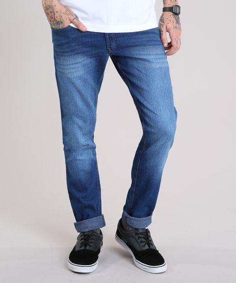 Calca-Jeans-Masculina-Slim-com-Bolsos-Azul-Medio-9134512-Azul_Medio_1