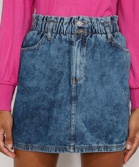Saia-Jeans-Feminina-Curta-Clochard-Marmorizada-Azul-Medio-9983323-Azul_Medio_1