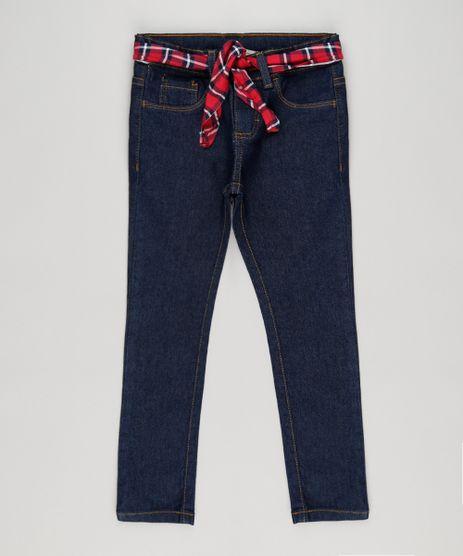 Calca-Infantil-Jeans-com-Cinto-Xadrez-Azul-Escuro-9196610-Azul_Escuro_1