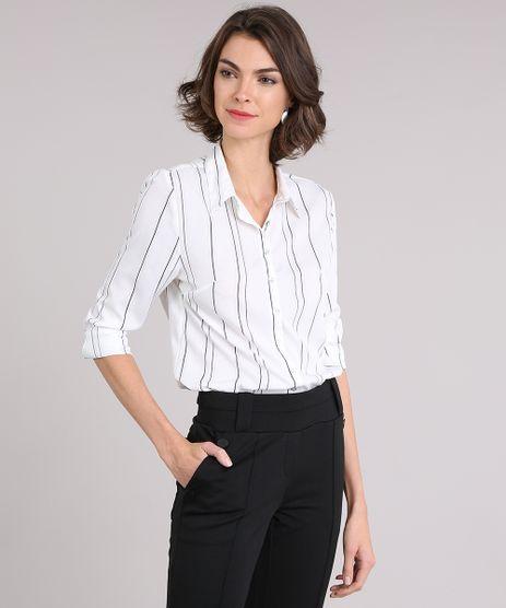 Camisa-Feminina-Listrada-com-Botoes-Manga-Longa-Gola-Esporte-Off-White-9035094-Off_White_1