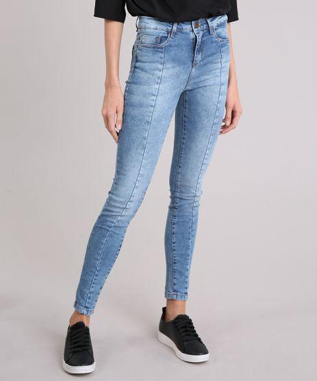 Calca-Jeans-Feminina-Super-Skinny-Cintura-Alta-Azul-Claro-9010640-Azul_Claro_1