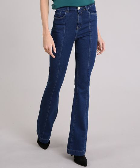 Calca-Jeans-Feminina-Flare-Cintura-Super-Alta-Azul-Escuro-9151849-Azul_Escuro_1