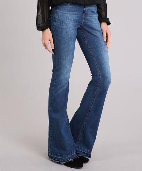 Calca-Jeans-Feminina-Flare-Cintura-Alta-Azul-Medio-9133699-Azul_Medio_1
