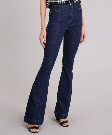 Calca-Jeans-Feminina-Flare-Cintura-Super-Alta-Azul-Escuro-9151850-Azul_Escuro_1