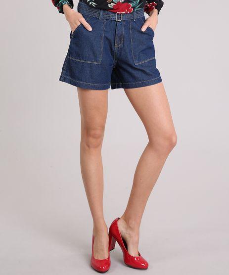Short-Feminino-Jeans-com-Cinto-Azul-Medio-9151851-Azul_Medio_1