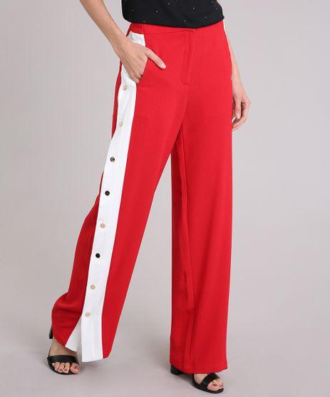 Calca-Feminina-Pantalona-Esportiva-Faixa-Lateral-com-Botoes-Vermelha-9037089-Vermelho_1