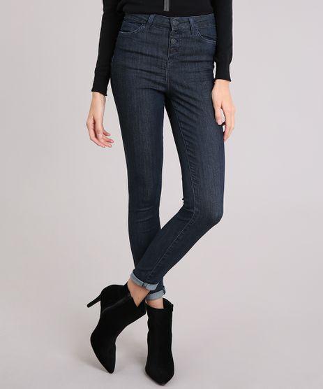 Calca-Jeans-Feminina-Super-Skinny-Cintura-Alta-Azul-Escuro-9151854-Azul_Escuro_1