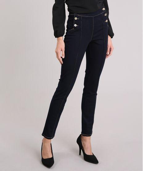 Calca-Jeans-Feminina-Skinny-Cintura-Alta-Azul-Escuro- 0d990c52b78