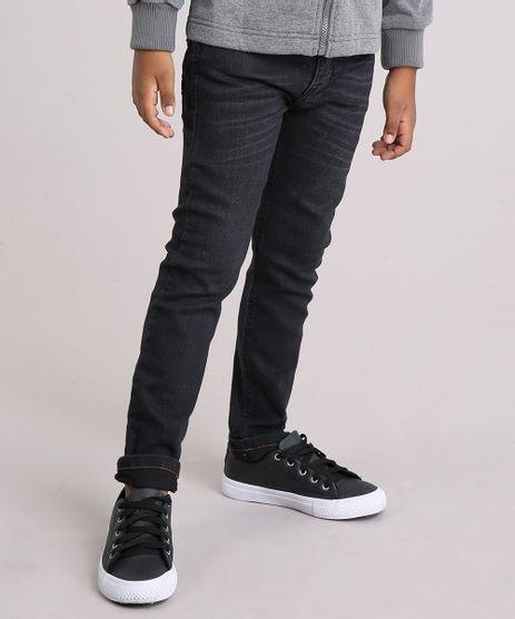 Calca-Jeans-Infantil-Slim-em-Algodao---Sustentavel-Preta-8702101-Preto_1