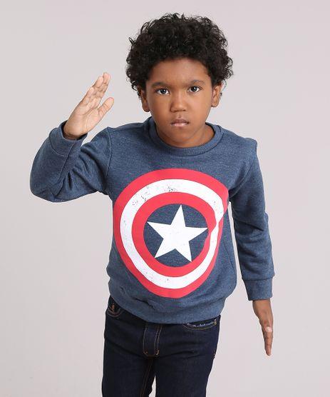 Blusao-Infantil-Capitao-America-em-Moletom-Gola-Careca-Manga-Longa-Azul-Marinho-9170837-Azul_Marinho_1