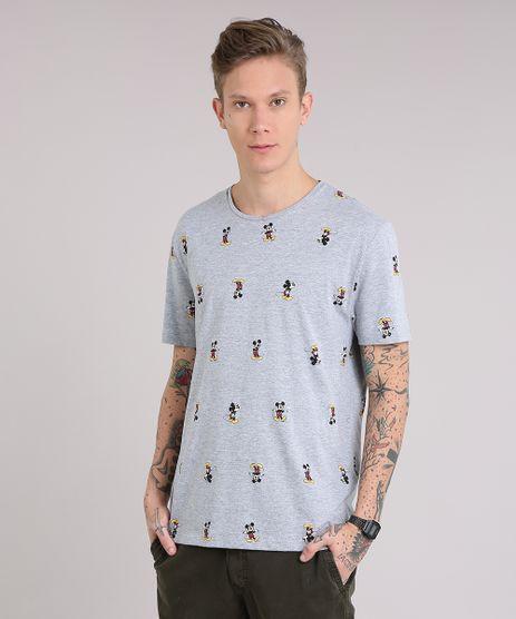 Camiseta-Masculina-Estampada-Mickey-Manga-Curta-Gola-Careca-Cinza-Mescla-9081679-Cinza_Mescla_1