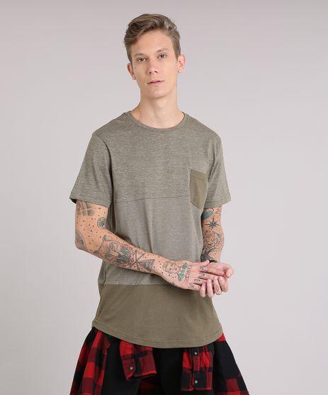 Camiseta-Masculina-Longa-com-Recorte-e-Bolso-Manga-Curta-Gola-Careca-Verde-9153499-Verde_1