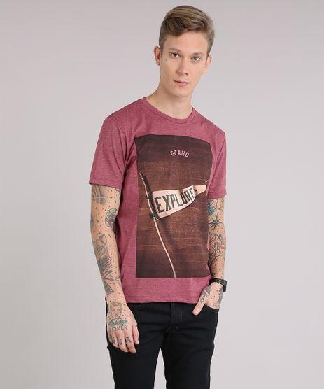 Camiseta-Masculina--Go-and-Explore--Manga-Curta-Gola-Careca-Vermelha-9149162-Vermelho_1