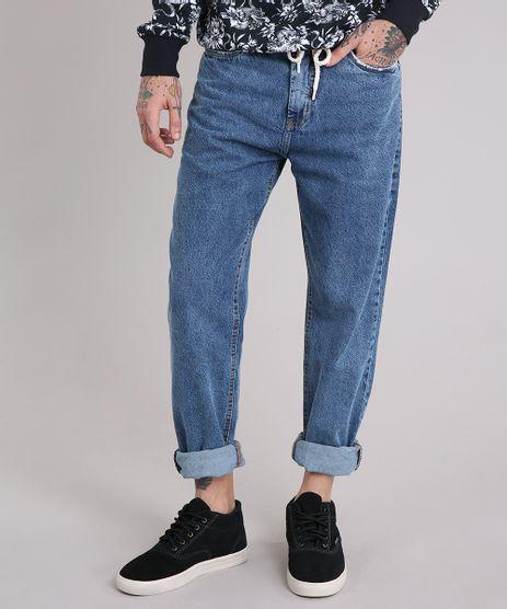Calca-Jeans-Masculina-Baggy-com-Cordao-Azul-Medio-9166438-Azul_Medio_1