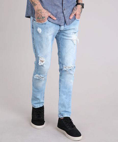Calca-Jeans-Masculina-Skinny-Destroyed-Azul-Claro-9110305-Azul_Claro_1