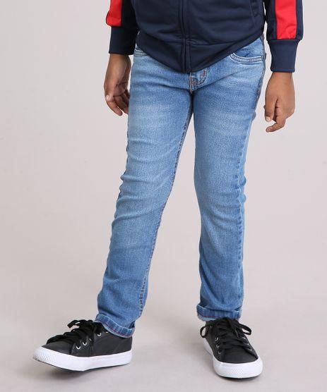 Calca-Jeans-Infantil-Slim-em-Algodao---Sustentavel-Azul-Medio-8703259-Azul_Medio_1