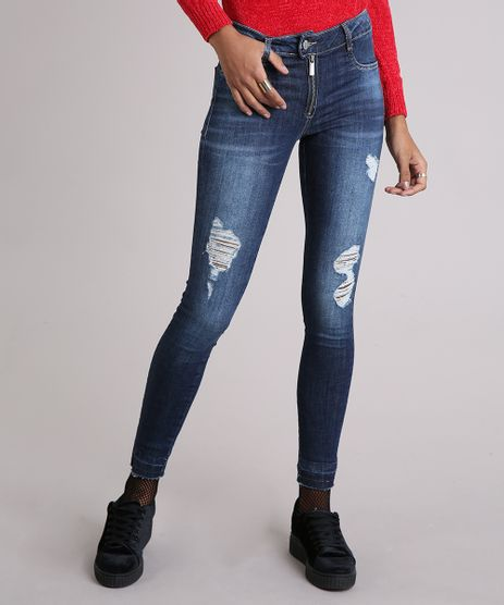 Calca-Jeans-Feminina-Sawary-Cigarrete-Destroyed-Azul-Escuro-9162713-Azul_Escuro_1