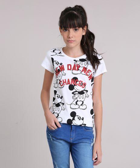 Blusa-Infantil-Mickey-Mouse-Manga-Curta-Decote-Redondo-em-Algodao---Sustentavel-Off-White-9199434-Off_White_1