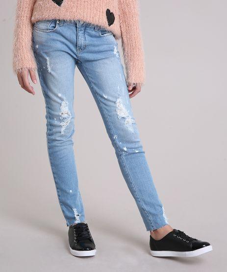 Calca-Jeans-Infantil-Destroyed-com-Respingos-Azul-Claro-9158763-Azul_Claro_1