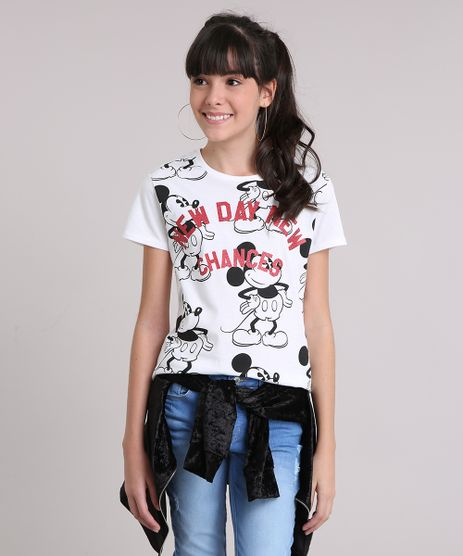 Blusa-Infantil-Mickey-Mouse-Manga-Curta-Decote-Redondo-em-Algodao---Sustentavel-Off-White-9141782-Off_White_1
