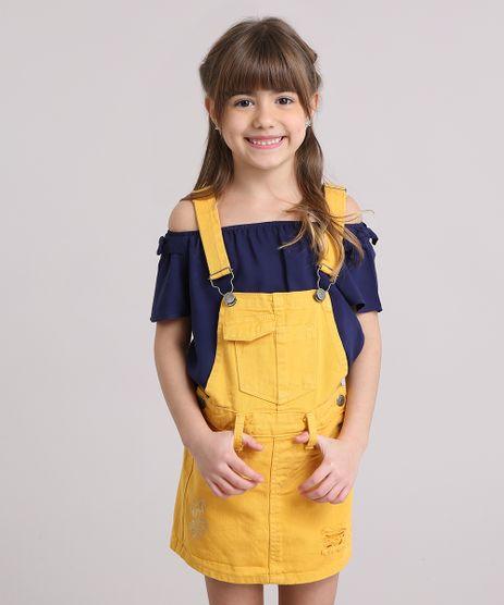 Jardineira-Infantil-com-Rasgos-Amarelo-Escuro-9186021-Amarelo_Escuro_1