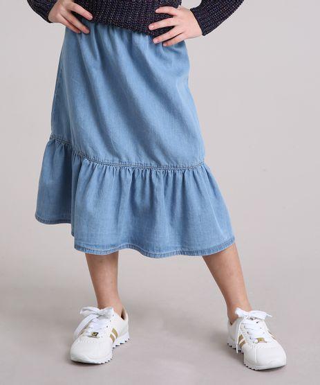 Saia-Infantil-Longa-Jeans-com-Babado-Azul-Claro-9205011-Azul_Claro_1