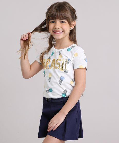 Blusa-Infantil-Brasil-Estampada-com-Paetes-Manga-Curta-Decote-Redondo-Off-White-9169158-Off_White_1