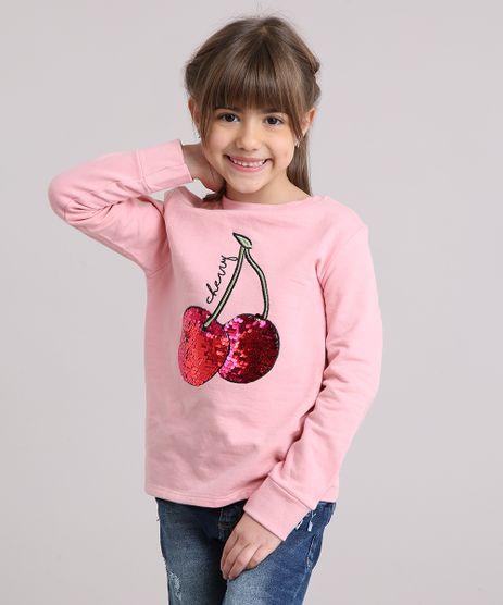 Blusao-Infantil-em-Moletom-Cereja-com-Paetes-Decote-Redondo-Manga-Longa-em-Algodao---Sustentavel-Rosa-9180364-Rosa_1