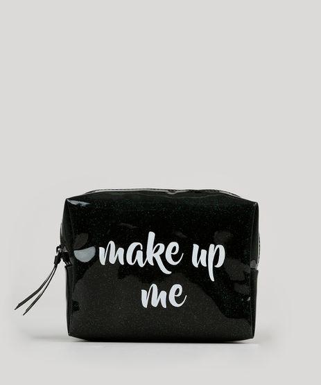 Necessaire-Feminina-com-Glitter--Make-Up-Me--Preta-8756182-Preto_1